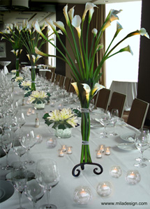 calla lily table center piece Trump Tower tn